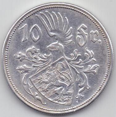 10 франков 1929 г. Люксенбург