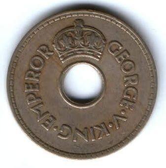 1 пенни 1935 г. Фиджи