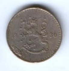 25 пенни 1930 г. редкий год Финландия