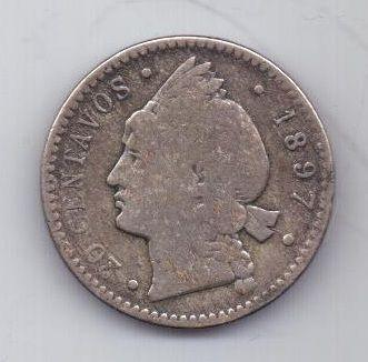 20 сентаво 1897 г. Доминиканская республика