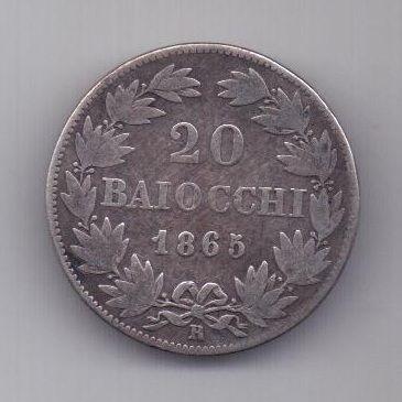 20 байочи 1865 г. R. Ватикан