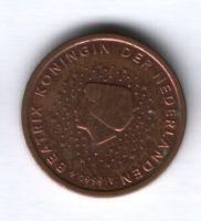 2 евроцента 1999 г. Нидерланды