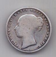 1 шиллинг 1864 г. редкий год. Великобритания