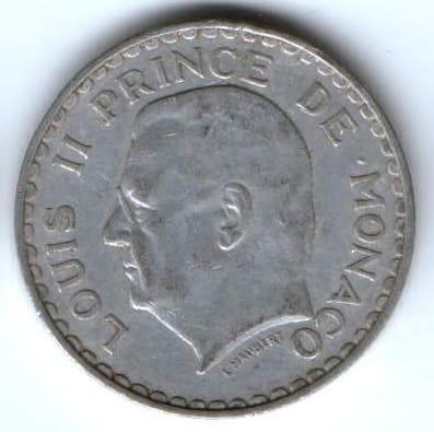 5 франков 1945 г. Монако