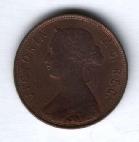 1 цент 1876 г. Ньюфаундленд
