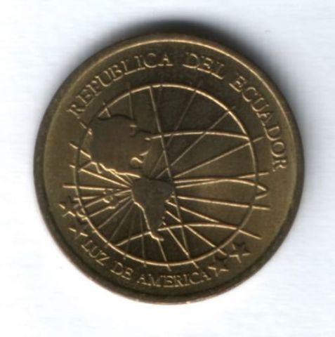 1 сентаво 2000 г. Эквадор AUNC