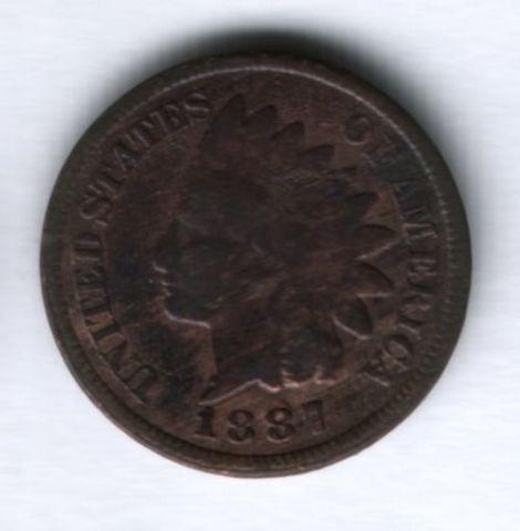1 цент 1887 г. США