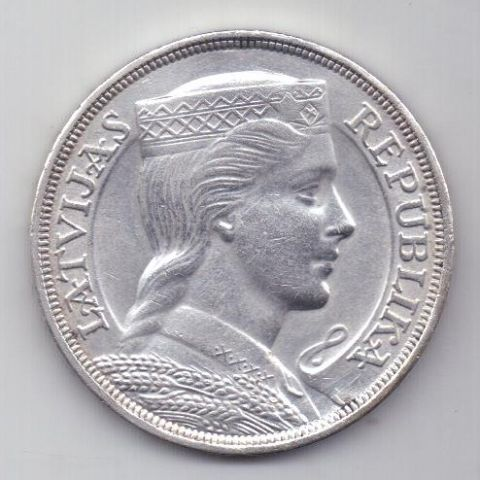 5 лат 1931 г. UNC. Латвия