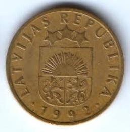 10 сантимов 1992 г. Латвия