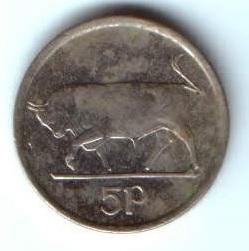 5 пенсов 1996 г. Ирландия