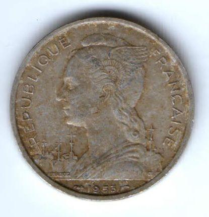 5 франков 1953 г. Мадагаскар