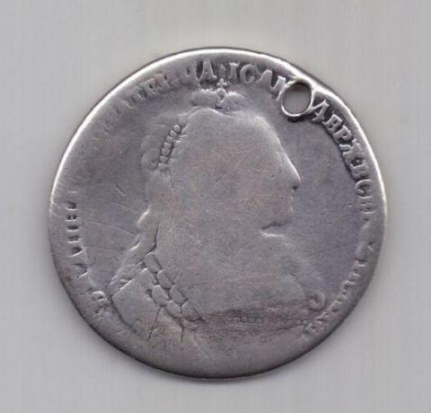 рубль 1734 г.  редкий тип
