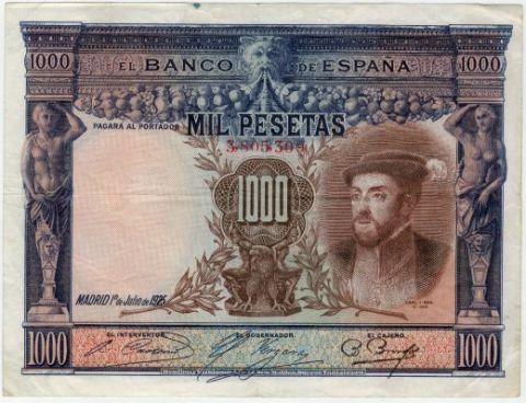 1000 песет 1925 г. Испания