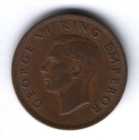 1/2 пенни 1942 г. редкий год, Новая Зеландия
