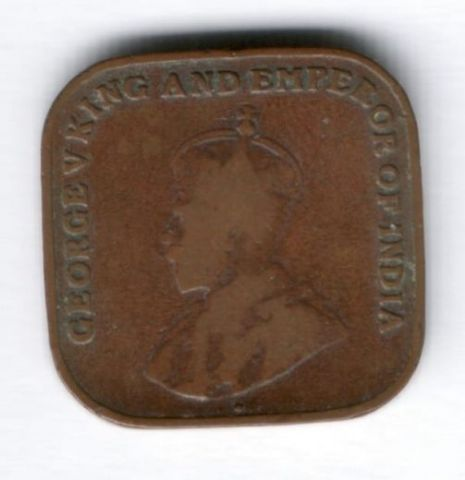 1 цент 1919 г. Стрейтс Сетлментс