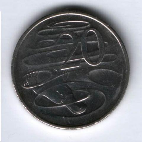 20 центов 2014 г. Австралия