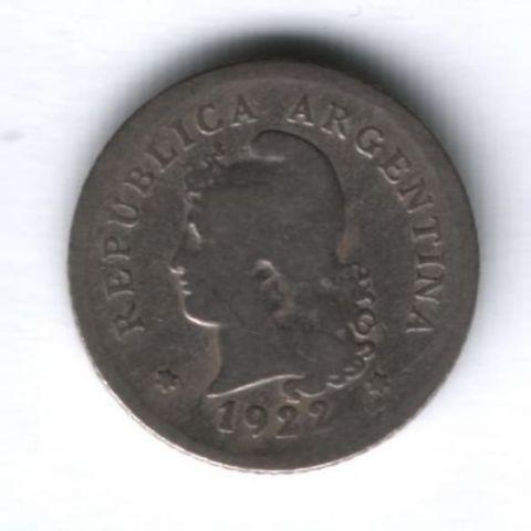 10 сентаво 1922 г. Аргентина