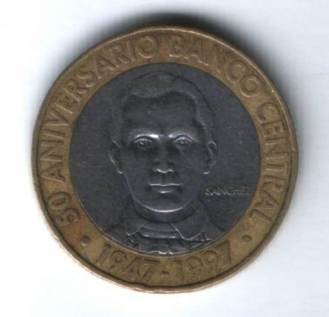 5 песо 1997 г. Доминиканская Республика
