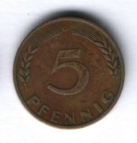 5 пфеннигов 1950 г. ФРГ Германия