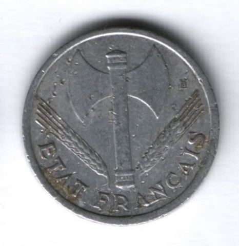 1 франк 1943 г. Франция